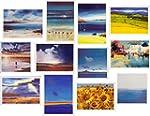 Pack of 12 Scenic Artistic Landscape...