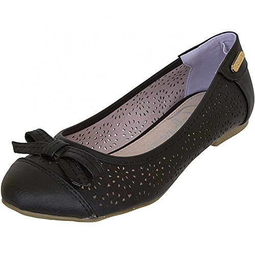 Refresh Shoes, Ballerine donna Nero nero, Nero (beige), 41