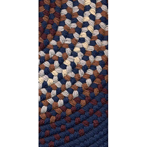Rhody Rug Rio Indoor/Outdoor Braided Rug - Navy