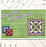 Rapid Fire Hunter's Star Ruler by Studio 180, quilting tool, Trim-down tool for Hunter's Star units