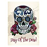"""Day of the Dead Vertical House Large Outdoor Decoration Flag 28"""" x 40"""""""