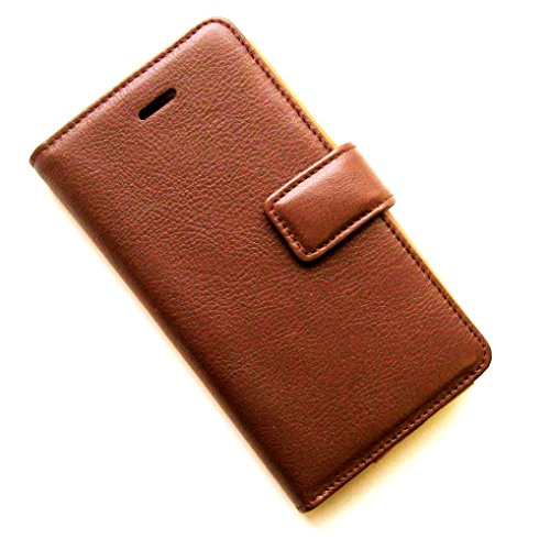 Mylife (Tm) Auburn Brown Leather - Classic Design - Textured Koskin Faux Leather (Card And Id Holder + Magnetic Detachable Closing) Slim Wallet For Iphone 5/5S (5G) 5Th Generation Itouch Smartphone By Apple (External Rugged Synthetic Leather With Magnetic