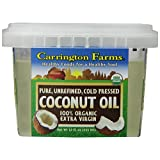 Carrington Farms Organic Extra Virgin Coconut Oil, 12 Ounce