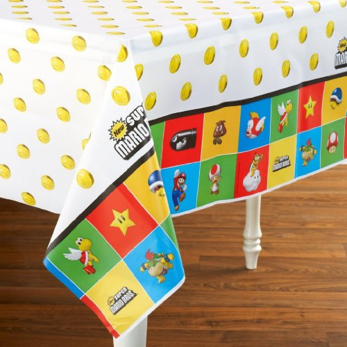 Party Destination 205193 Super Mario Brothers Plastic Tablecover W/ Stylish And Innovative Design Jouets, Jeux, Enfant, Peu, Nourrisson
