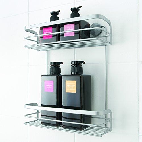Metaltex 404814039 mensolina portaoggetti da doccia a 2 for Camminare attraverso i piani doccia