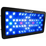 Global Star® Gs-A(fb)60x5wleds Daisy Chain function Powerful Dimmable 300W Full Spectrum LED Aquarium Grow Light with Crystal Lens Full Spectrum Fishtank Reef Coral Lps/sps