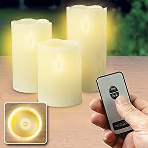 Flameless Led Flicker Candle with Wireless Remote Control