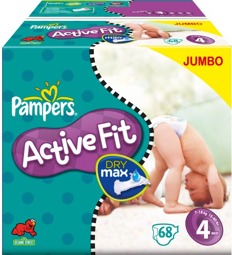 Pampers Active Fit jumbo 7/18 kg x68 maxi taille 4