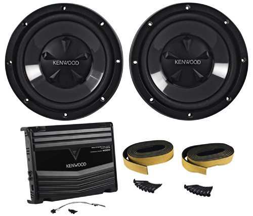 "Kenwood P-W1020 Package Of: Kac-5206 400 Watt Peak 2 Channel Car Amplifier + (2) Kfc-W110S 10"" 700 Watts (Each) Car Subwoofers (Total 1,400 Watts)"