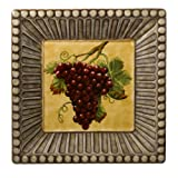 Grasslands Road in Vino Veritas Ceramic Square Tray 13-Inch