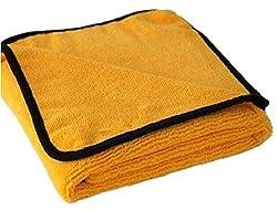 SOBBY Microfiber Cleaning Cloth (Pack of 2 - Light Orange - 440 GSM - 40 cm x 40 cm)
