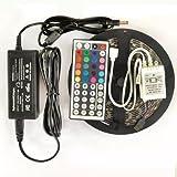 コンプリートセット5M RGB 5050ストリップ300個のLED+44キーコントローラ+5 A/12V電源アダプタ