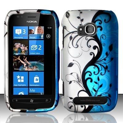 Blue Vine Hard Protector Faceplate Cover Phone Case for Nokia Lumia 710