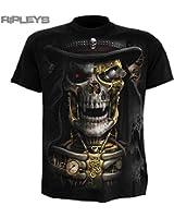 Spiral Faucheur Steam Punk T-Shirt Hommes Noir