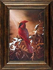 Beauty by David Krech 18x24 framed artwork cardinal art print
