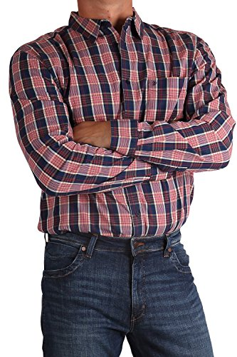 Wrangler Camicia da uomo a maniche lunghe a quadri w57604l1p H.r Red H.R.Red XL/47/48