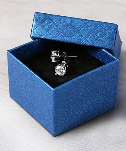 sapphire and diamond earrings in a box