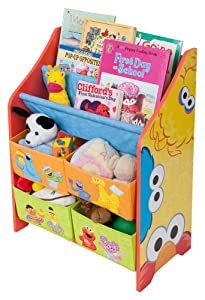 Sesame Street Book And Toy Organizer by Delta Enterprise