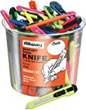 50 Count 9MM Snap Off Neon Knife Bucket K13-50 [Set of 50]