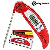 UltraFastDigitalInstantReadMeatThermometer|Folding,Stainless SteelProbeforGrilling&OvenfromBBQSniper