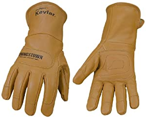 Youngstown Glove 11-3280-60-L Flame Resistant Leather Utility Lined with Kevlar Gloves, Large