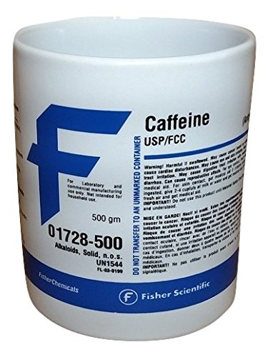 Fisher Scientific Caffeine Chemical Label Mug