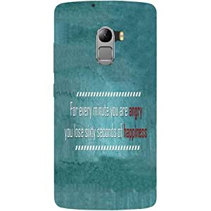 Casotec Happiness Quote Design Hard Back Case Cover for Lenovo K4 Note