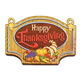 Beistle 99889 Happy Thanksgiving Sign, 13 x 18 , 12 Cutouts Per Package