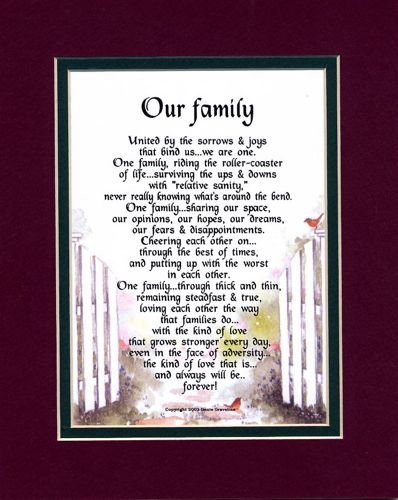 Dad and Family Poem