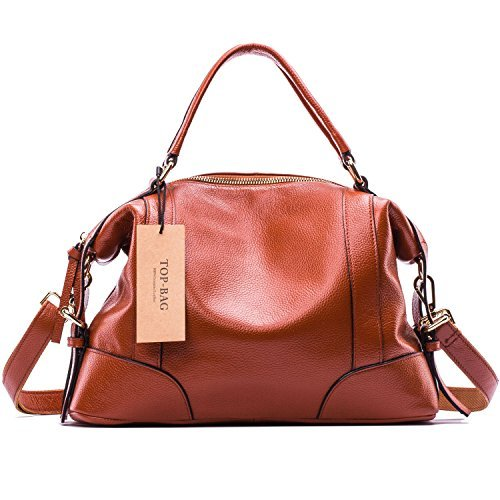 TOP-BAG Lovely Women Ladies' Genuine Leather Tote Satchel Shoulder Handbag, SF1006