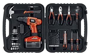 Black & Decker PS18FDPK 18-Volt Project Kit, 51-Piece