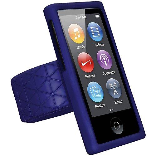 b8ddc15f4f25d Amzer 94923 Silicone Skin Slap Jelly Case - Blue for iPod Nano 7th ...