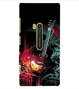 ColourCraft Guitar Design Back Case Cover for NOKIA LUMIA 920
