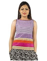 Jaipur Kurti's Pure Cotton Sleeveless Purple Kurti