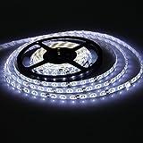 XKTTSUEERCRR Waterproof LED 3528 SMD 300LED 5M Flexible Light Strip 12V 2A 24W 60LED M Cool White