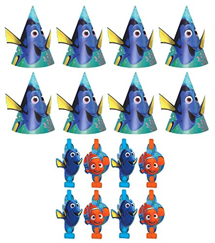 Disney-Finding-Dory-Birthday-Party-Favors-Pack-Including-Blowouts-and-Kids-Party-Hats-8-Guests