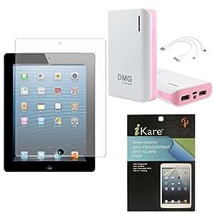 iKare Pack of 11 Matte Screen Protector for Apple iPad 2/3/4 + iKare 10200 mAh Portable Power Bank