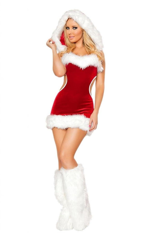 Lukis Damen Weihnachten Rückenfrei Kleid Kostüm Cosplay Dessous Babydoll günstig kaufen