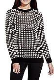 Cotton Rich Checkered & Open Knit Jumper [T69-2916J-S]