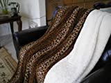 513pGMvHi2L. SL160  SUPER SOFT Queen FAUX FUR / MICRO FIBER BLANKET / Bedspread / Throw   Leopard