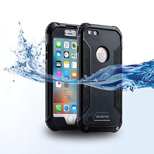 ISELECTOR 防水ケース iPhone 6s Plus/ 6 Plus用 防塵 耐衝撃 5.5インチ ブラック