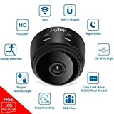 Spy Hidden Camera WiFi JOYTRIP Mini Wireless HD 1080P Portable Spy Cam Covert Battery Home Security Nanny Cam Cop Cam Camera with Motion Detection/Night Vision for iPhone/Android (16G TF Card) (Color: 16G TF Card)