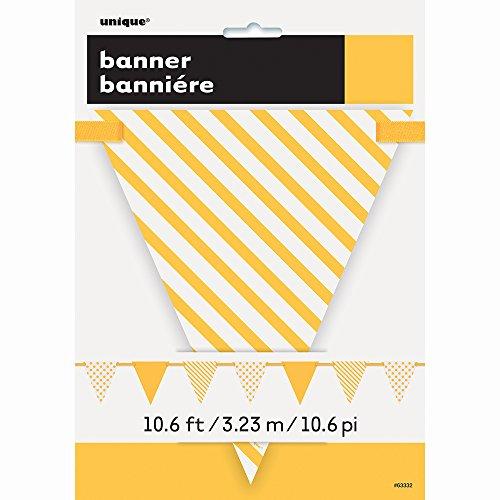 Guirlande fanions à motifs jaunes 3.23 mètres