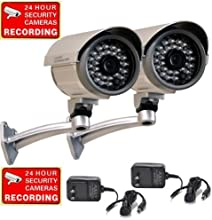 VideoSecu 2 Outdoor Built-in SONY CCD Infrared Home CCTV Security Surveillance Bullet Cameras I RLED