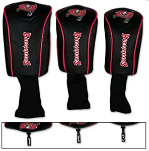 NFL Official Tampa Bay Buccaneers 3-piece Golf Club Head Cover Set by McArthur