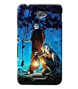 Clarks Kids In Night Hard Plastic Printed Back Cover/Case For Sony Xperia E4