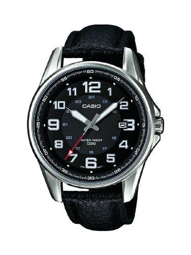fa4bff11b188 Herren-Armbanduhr XL Casio Collection Analog Quarz Leder MTP-1372L-1BVEF