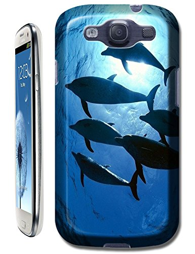 New Style Top Selling Group Dolphins Swimming Under The Sea Sunshine Cell Phone Cases For Samsung Glaxy S3 I9300