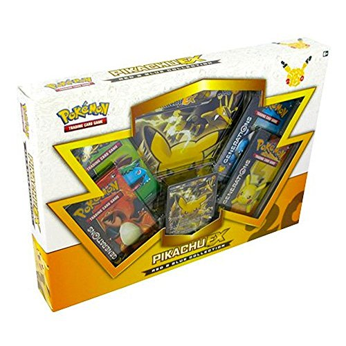Pokemon-POK80132-TCG-Red-and-Blue-Collection-Pikachu-EX-Card-Game