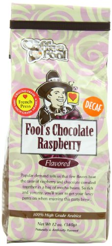 The Coffee Fool French Press, Fool'S Decaf Chocolate Raspberry, 12 Ounce